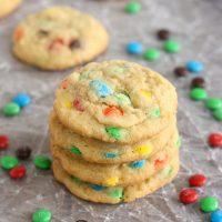 Mini M&M Pudding Cookies