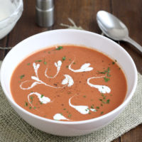 Creamy Roasted Tomato-Balsamic Soup