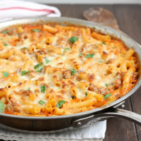 Skillet Baked Ziti with Sausage
