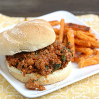 Ground Turkey Sloppy Joes with Hoisin and Cilantro