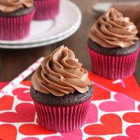 Devil's Food Cupcakes with Nutella Buttercream