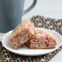 Whole Wheat Raspberry Ricotta Scones