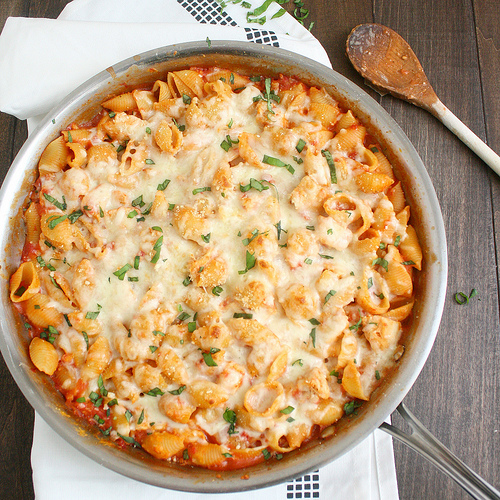 Chicken Parmesan Baked Pasta