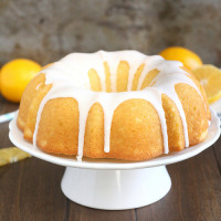 Glazed Meyer Lemon Buttermilk Bundt Cake