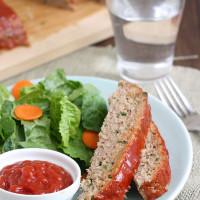 Turkey Meatloaf with Brown Sugar-Ketchup Glaze