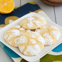 Meyer Lemon Crinkle Cookies