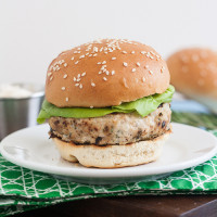 Chicken Burgers with Garlic-Rosemary Mayonnaise