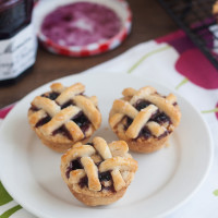 Pass the Cook Book Club: Mini Peanut Butter and Jelly Lattice Pies