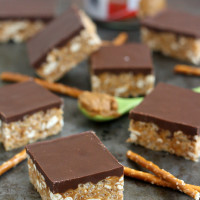 Biscoff-Pretzel Rice Krispies Treats