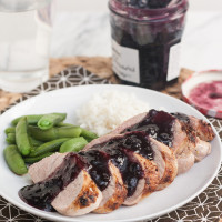 Pork Tenderloin with Spicy Blueberry Sauce