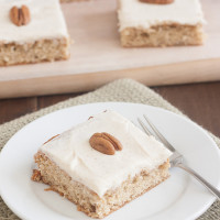 Roasted Banana Bars with Brown Butter Cream Cheese Frosting