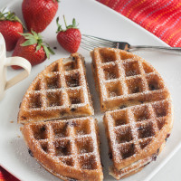 Blueberry Yeasted Waffles