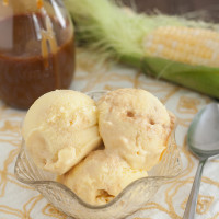 Salted Caramel Sweet Corn Ice Cream