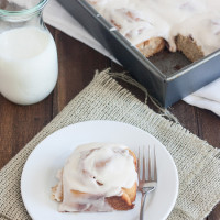 100% Whole Grain Cinnamon Rolls