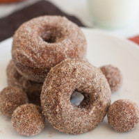 Cinnamon-Sugar Gingerbread Doughnuts