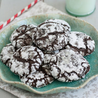 Triple-Chocolate Crinkle Cookies