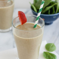 Strawberry, Banana, and Spinach Smoothie